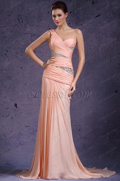 eDressit новое очаровательное одно плечевое вечернее платье (00135901)