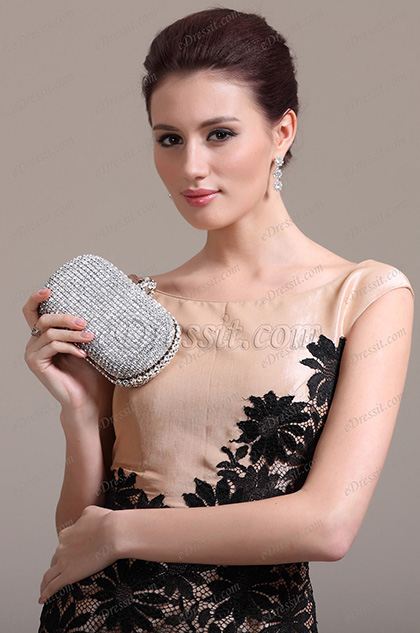 New Silver  Handbag /Purse (08131126)