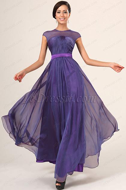 eDressit New Fabulous Sleeveless Evening Dress With Belt (02131006)