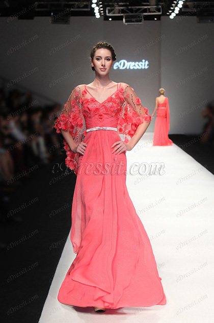 eDressit 2013 S/S Fashion Show Cape style Evening Dress Prom Gown (F00131757)