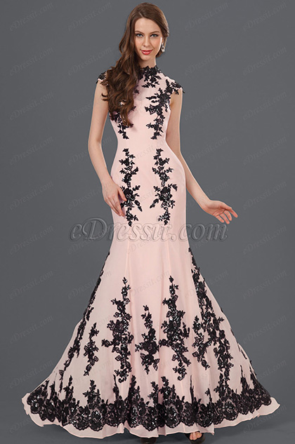 eDressit New Gorgeous Black Lace Evening Dress (02120701)