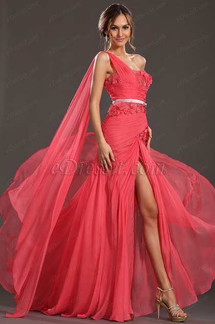 eDressit 2013 S/S Fashion Show Handmade Flowers One Shoulder Evening Dress Prom Gown (F00132857)