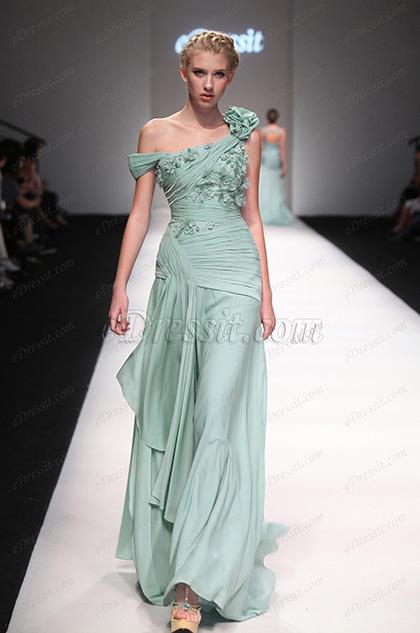 eDressit 2013 P/E Fashion Show Magnfique Verte Fente Elevée Robe de Soirée Robe de Bal (F00131304)