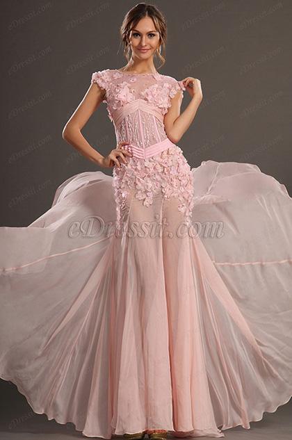 eDressit 2013 S/S Fashion Show Rose Sans Manches Robe de Soirée Robe de Bal (F00132401)