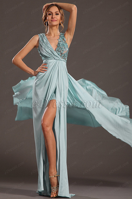 eDressit 2013 S/S Fashion Show High Split Sleeveless Evening Dress Prom Gown (F00132932)