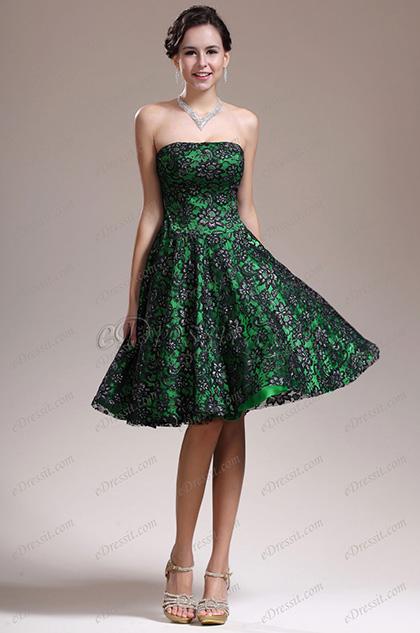 eDressit  новое привлекательное коктейльное платье без бретелек с прозрачными кружевами (04134904)