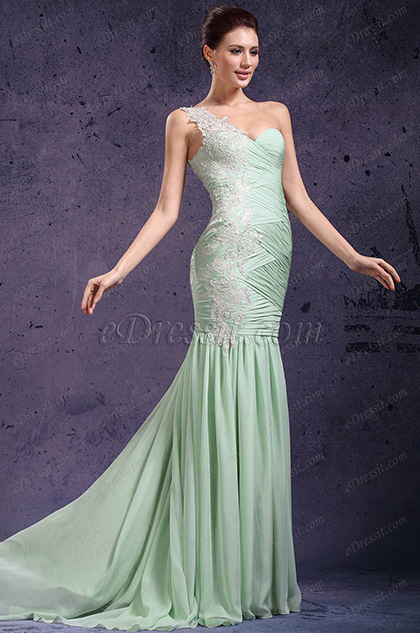 ae33c0d9b07 eDressit New Adorable One Shoulder   Sweetheart Light Green ...
