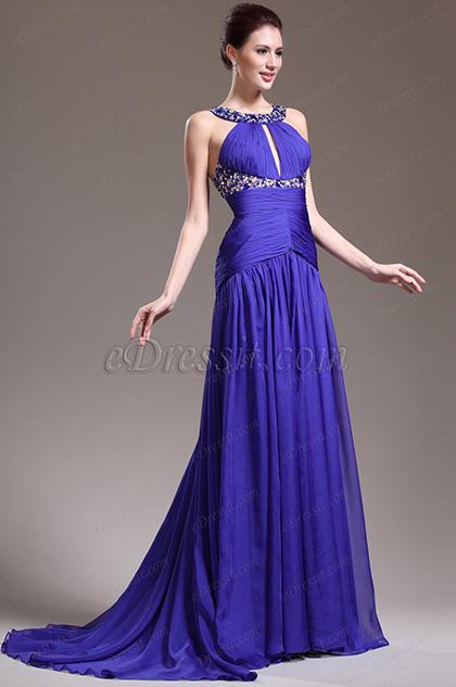 eDressit Stilvolle Halter Straßsteine Halsausschnitt Abendkleid Brautkleid (02132605)