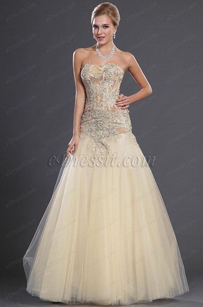 eDressit 2013 S/S Fashion Show Sexy Strapless Evening Dress Prom Gown (F00130314)