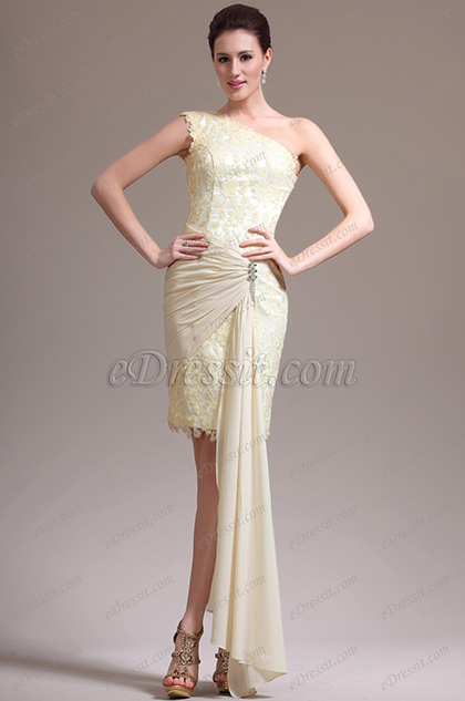 eDressit  Stylish One Shoulder Lace Cocktail Dress Party Dress (04136314)