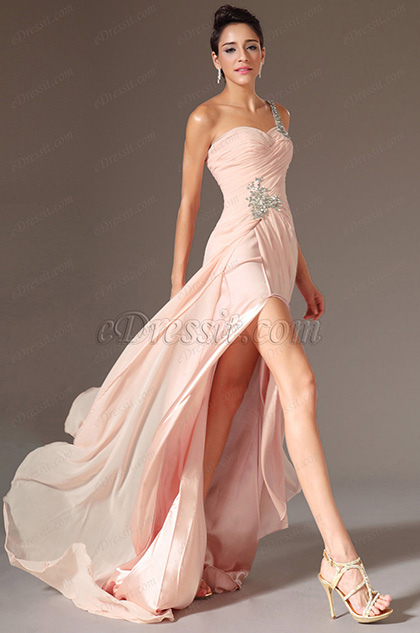eDressit Pink Fabulous High Split Evening Dress (00131901)