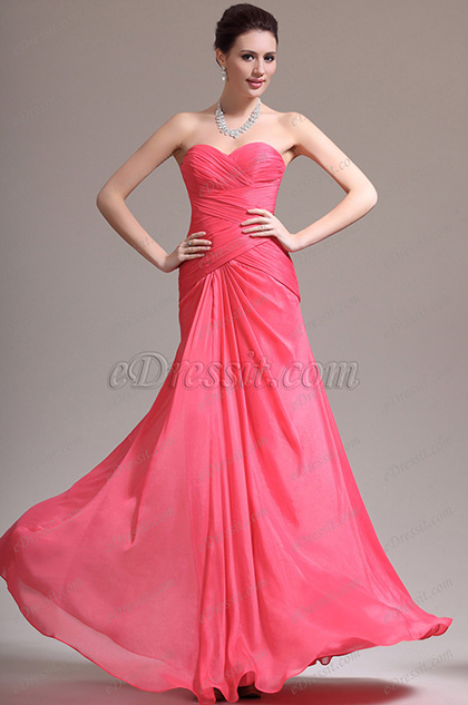eDressit New Gorgeous Pleated Sweetheart Evening Dress (00139057)