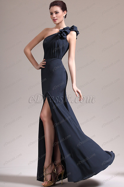 eDressit New Gorgeous One Shoulder High Split Evening Dress (00137705)