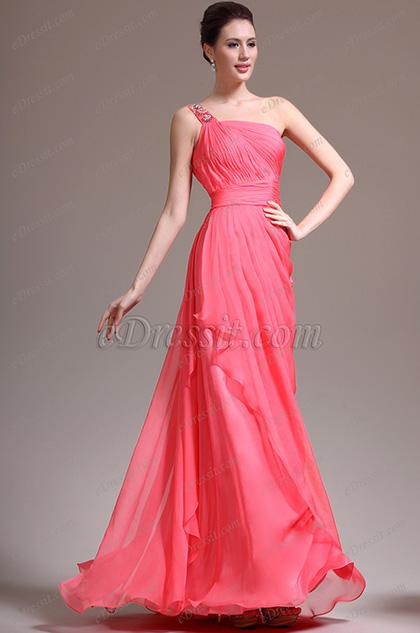 eDressit  Hübsch Ein Schulter Perlen Abendkleid (00138057)
