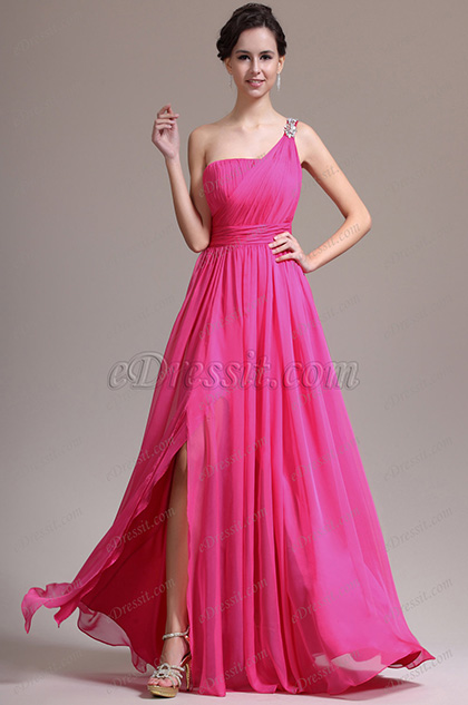 eDressit New Lovely One Shoulder Delicate Beads Evening Dress (00137112)