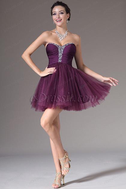 eDressit Chic Strapless Sweetheart Mini-Skirt Party Dress (04140606)