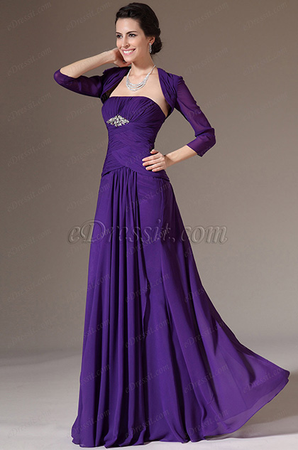eDressit Purple Bolero 2 Pieces Formal Evening Gown (26142806)