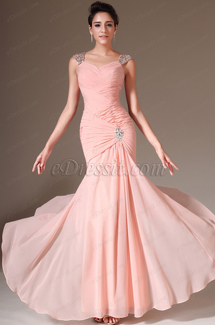 eDressit Pink Beaded Sweetheart Evening Prom Gown(02145001)