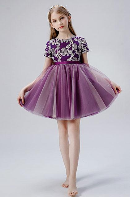 eDressit Short Sleeves Round Neck Flower Girl Dress (28204606)