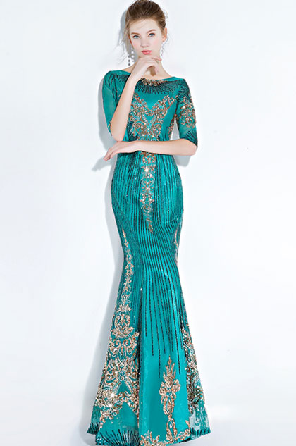 eDressit Sexy Green Gorgeous Beaded Mermaid Prom Party Gown (36217704)