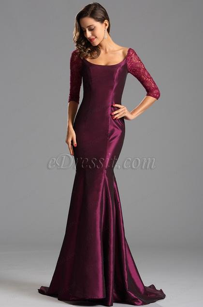Graceful Burgundy Evening Dress Formal Gown (X26151617)
