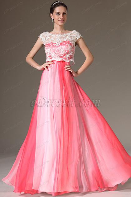 eDressit Gradient Top Lace Bodice Prom Evening Dress (00143256)