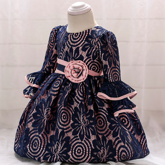 eDressit Princess Navy Blue Long Round Neck Baby Dress (2319033)