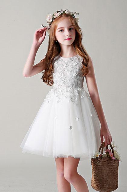 eDressit White Handmade Flower Girl Dress Little Girl Dress (28199107)
