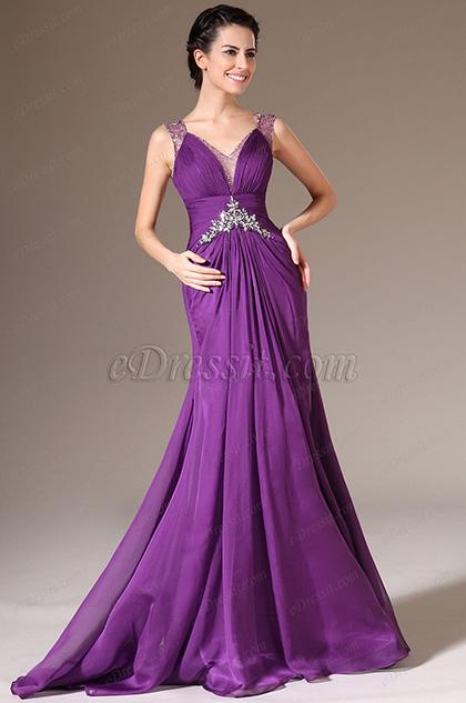 eDressit 2014 Neu Sexy V-Ausschnitt Perlen Lace Abendkleid (02140306)