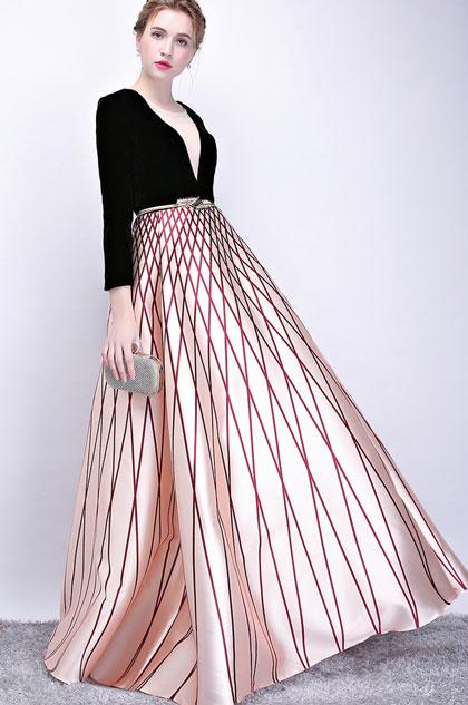 eDressit Sexy Black-Champagne Long Dress Formal for Women (36215700)