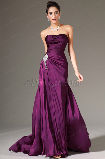 eDressit Simple Strapless Formal Evening Gown (00140512)