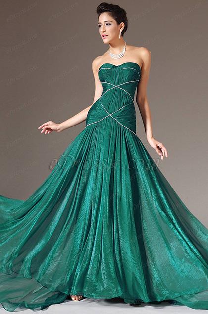 eDressit 2014 Nouveauté Verte Sans Bretelles Cœur Robe de Soirée/ Longue(00140604)