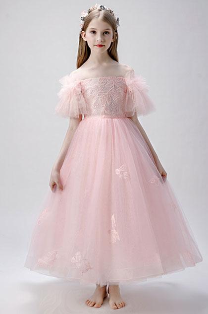 eDressit Pink Off Shoulder Flower Girl Dress (27207501)