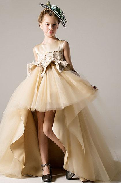 eDressit Champagne Sleeveless Children Flower Girl Dress (28198014)