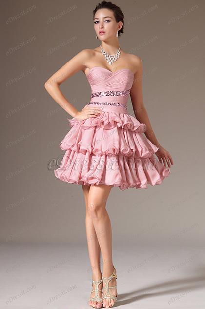eDressit Strapless Sweetheart Layered Party Dress(04140546)