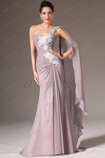eDressit Embroidered Lace One-Shoulder Sweetheart Evening Dress(00141546)
