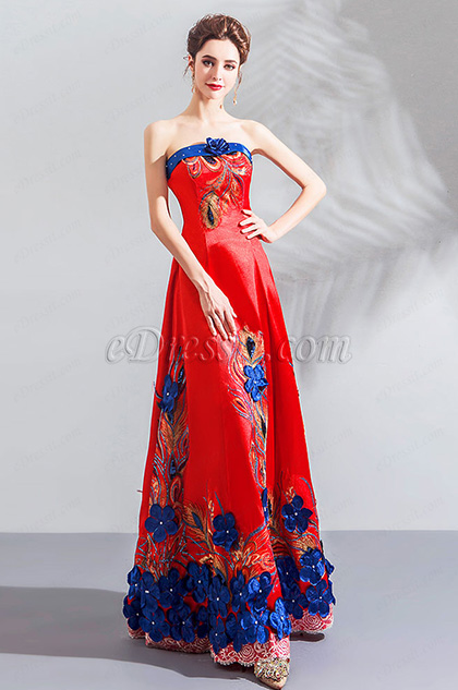eDressit Sexy Red Corset Embroidery Stylish Party Ball Dress (36201002)