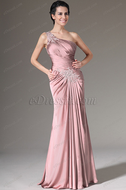eDressit Pink Crepe Satin Bolero 2 Pieces Formal Gown (26142901)