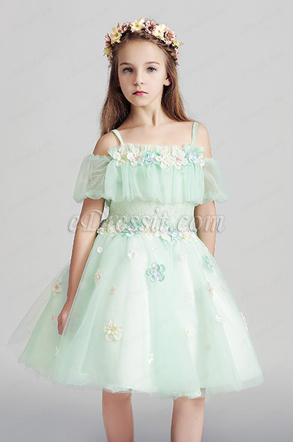 Lovely Princess Children Wedding Flower Girl Dress