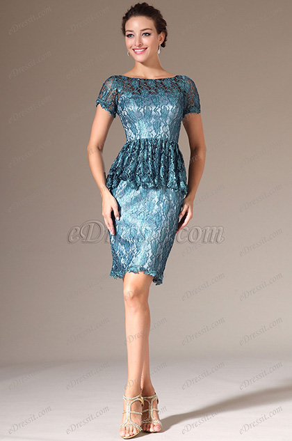 eDressit Short Sleeves Lace Mother of the Bride Dress (26143705)