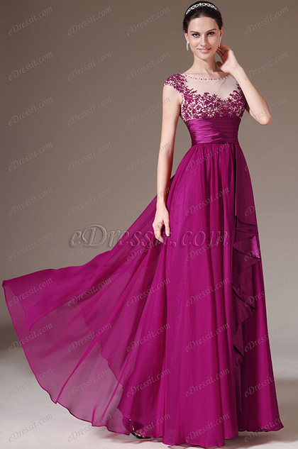 eDressit Embroidery A-Line Prom Evening Dress (00144525)