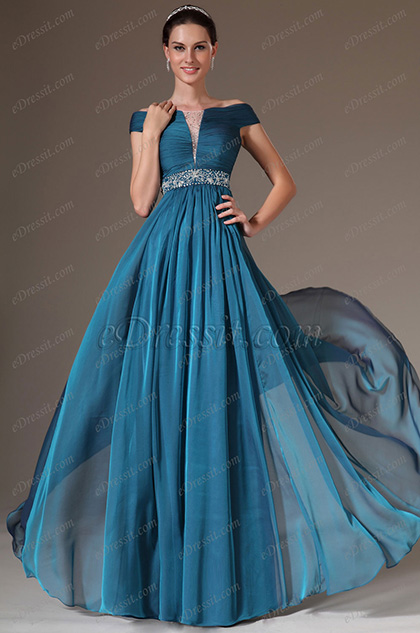 eDressit 2014 Neu Off-Schulter Stickerei A-Linie Formal Abendkleid (02142605)