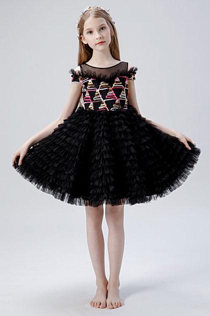 eDressit Lovely Black Children Wedding Flower Girl Dress