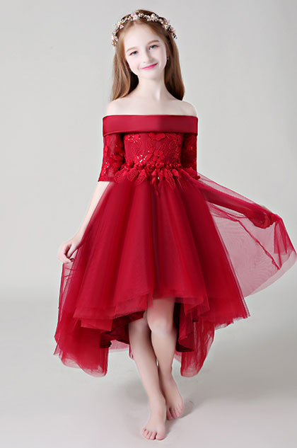 eDressit Red Off Shoulder Lace Flower Girl Dress (28198902)