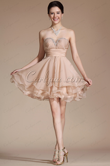 Lovely Sweetheart Pleated Top Cocktail Dress/Party Dress/Day Dress (C35140714)