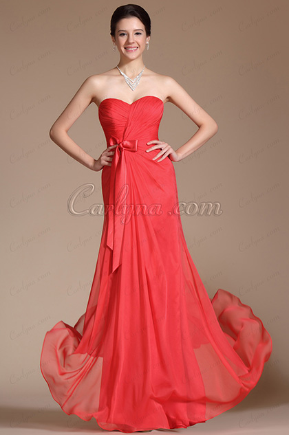 Strapless Sweetheart Ruched A-Line Bridesmaid Dress (C00142210)