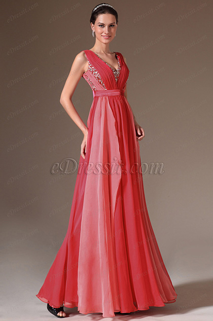 eDressit Stunning Red Sleeveless Evening Gown (02141656)