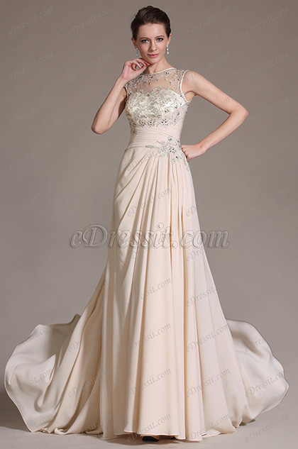 eDressit Sleeveless Lace Decoration Evening Prom Gown (00147014)