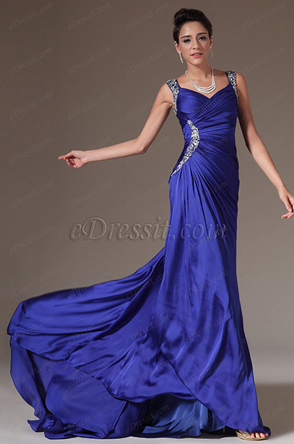 eDressit Beaded Straps Chapel Train Prom Dress (00144305)