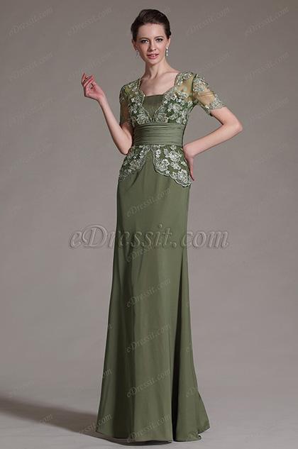 eDressit 2014 Neu Kürz Ärmel Braut'Mutter Kleid (26147104)